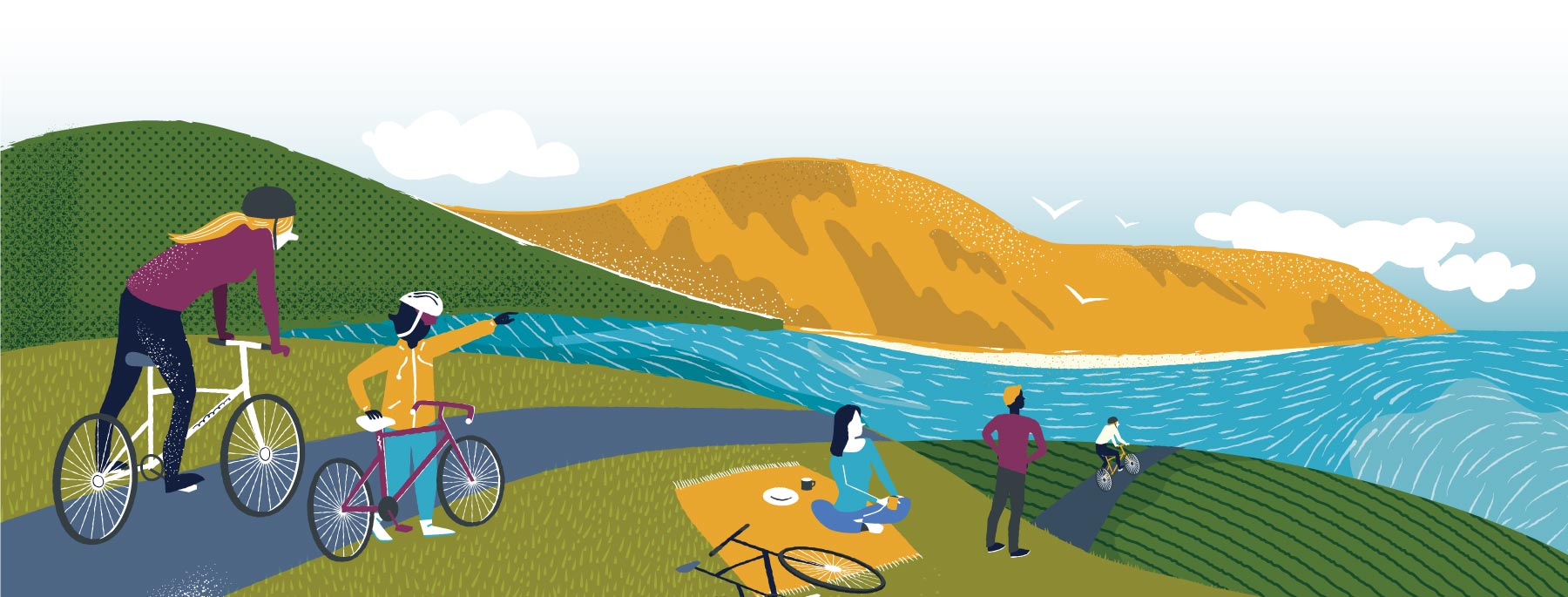 Alternative Colour Illustration for Barra Bike Hire