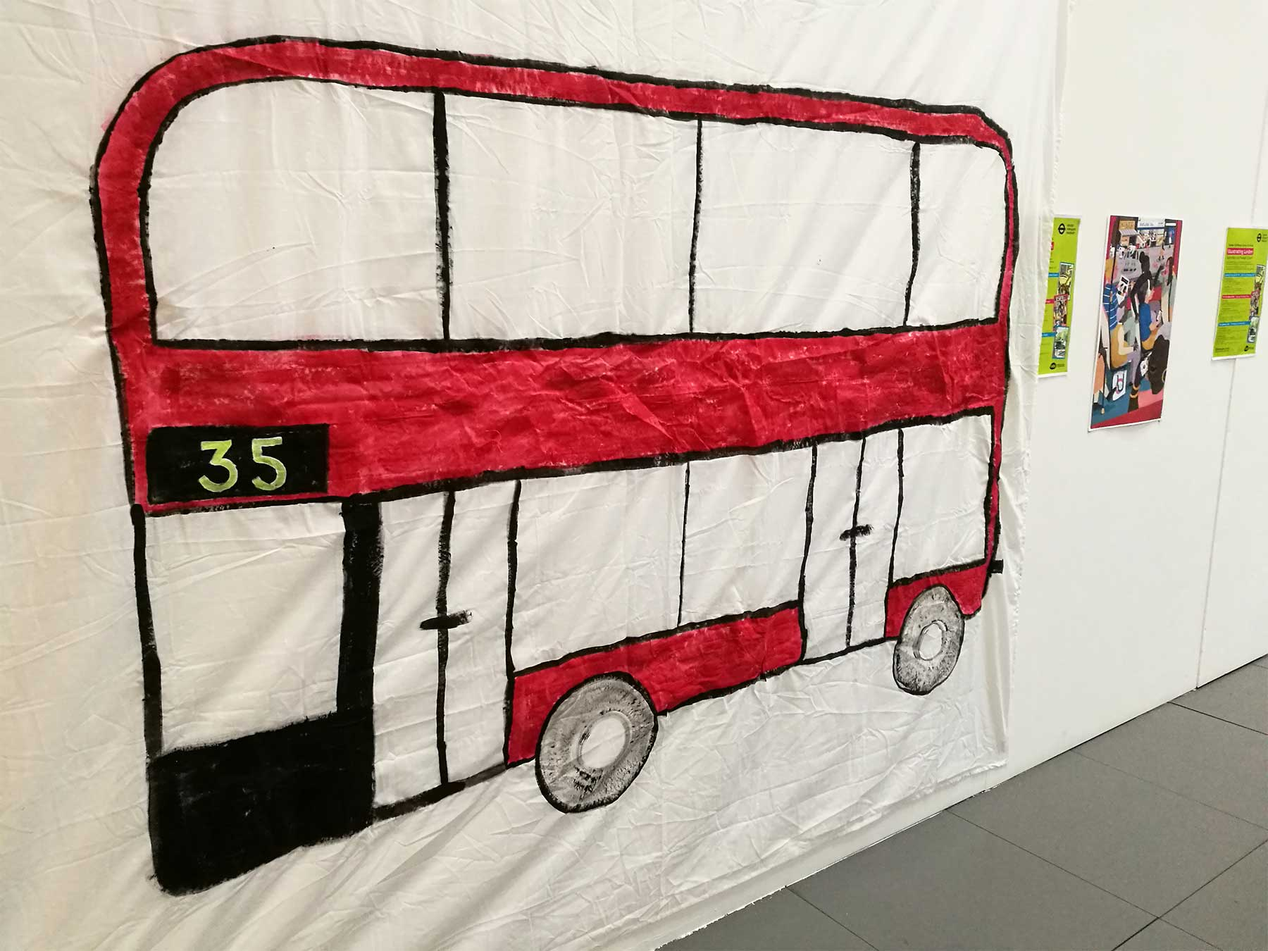 My giant bus for illustration workshops
