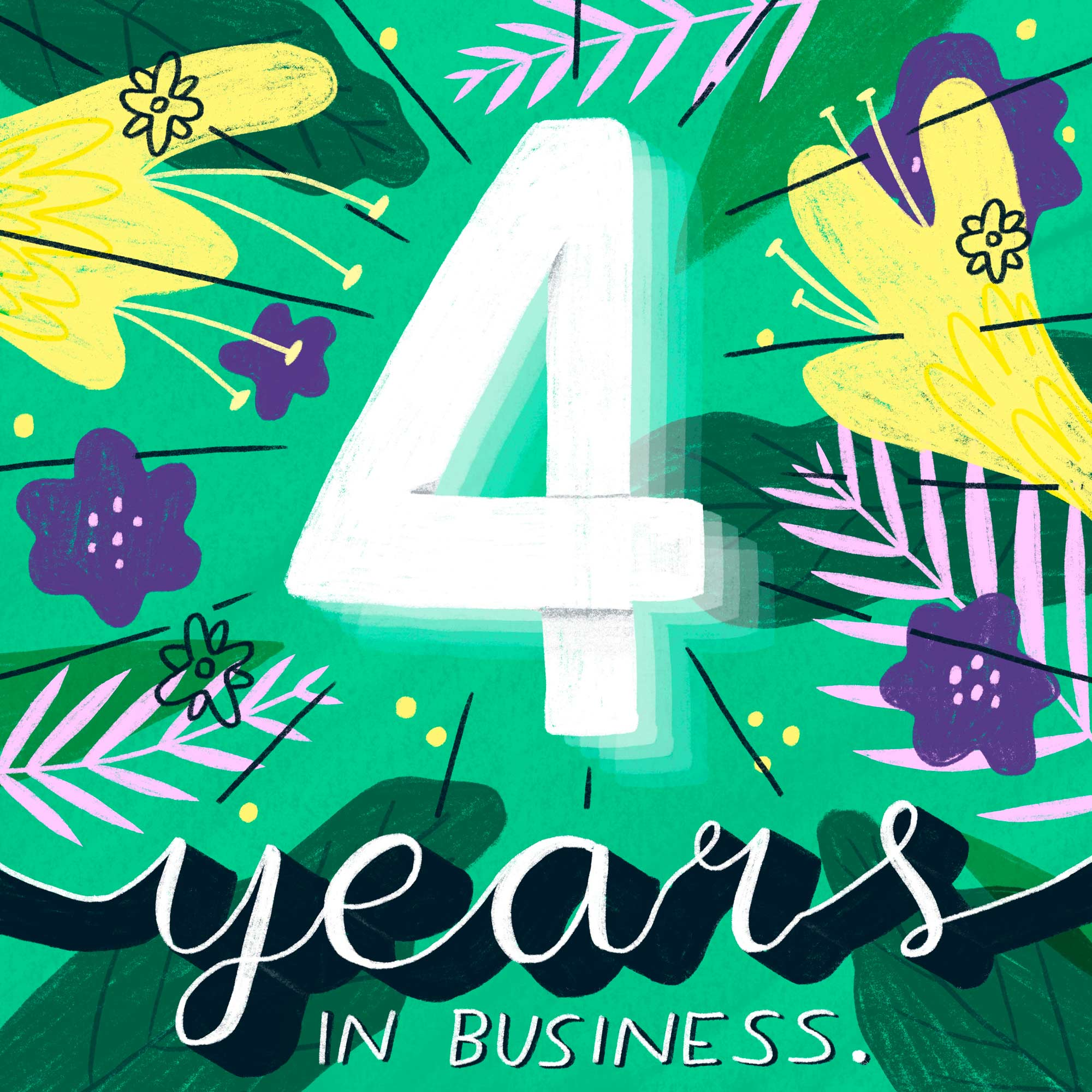 Elly Jahnz's four year business anniversary