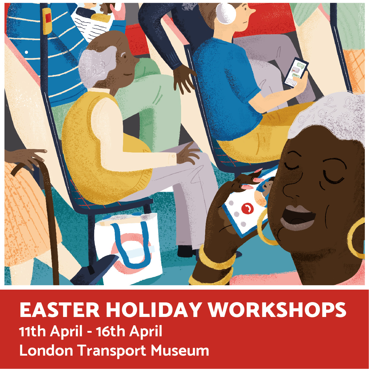 Illustration workshops run by Elly Jahnz at the London Transport Museum