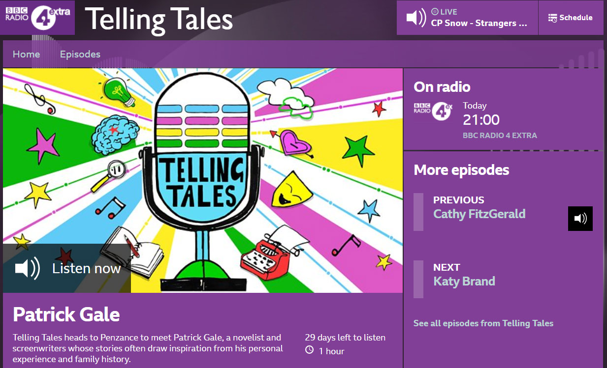 Elly Jahnz is on Telling Tales on BBC Radio 4 Extra