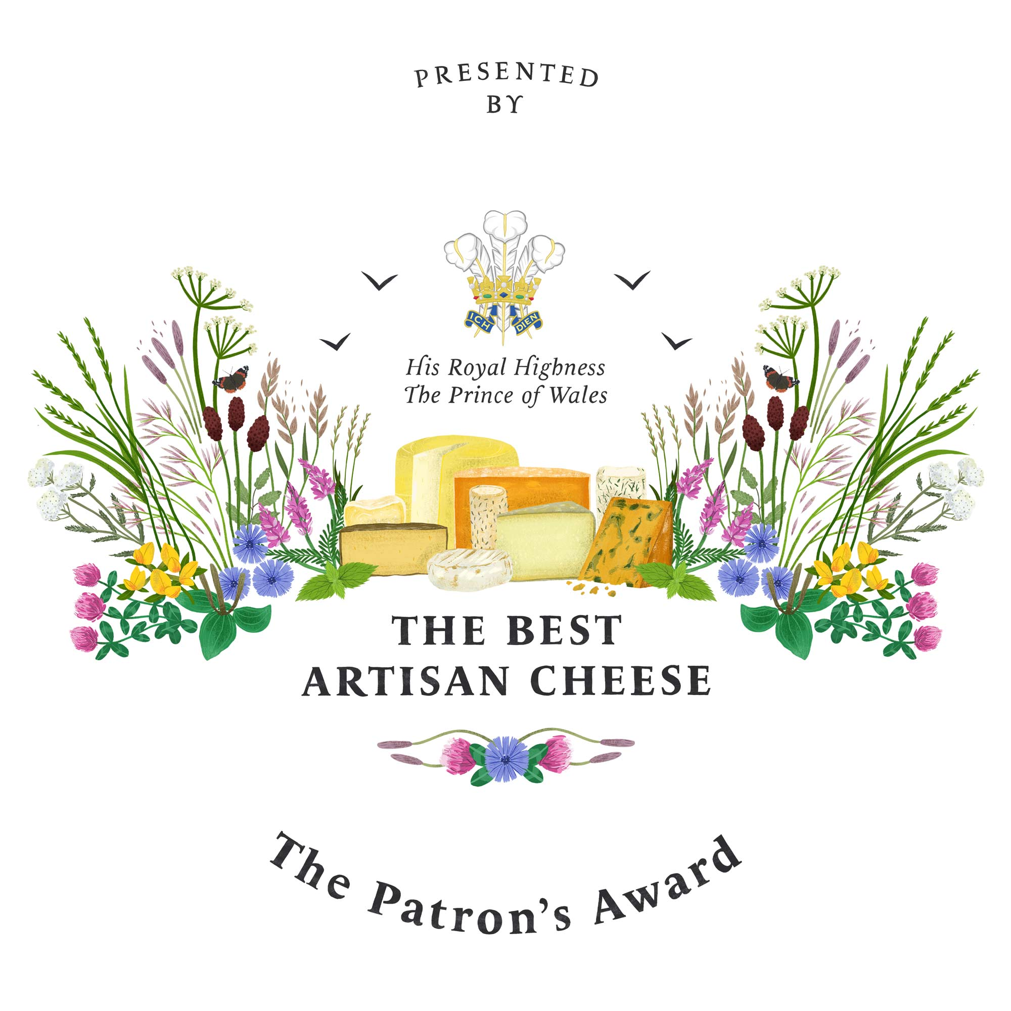 The Best Artisan Cheese Trophy Illustration portfolio cover image