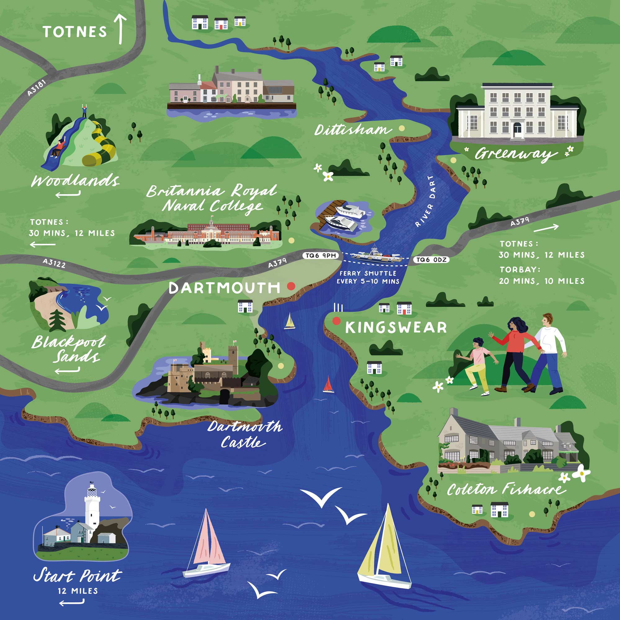 An illustrated map of Dartmouth portfolio cover image