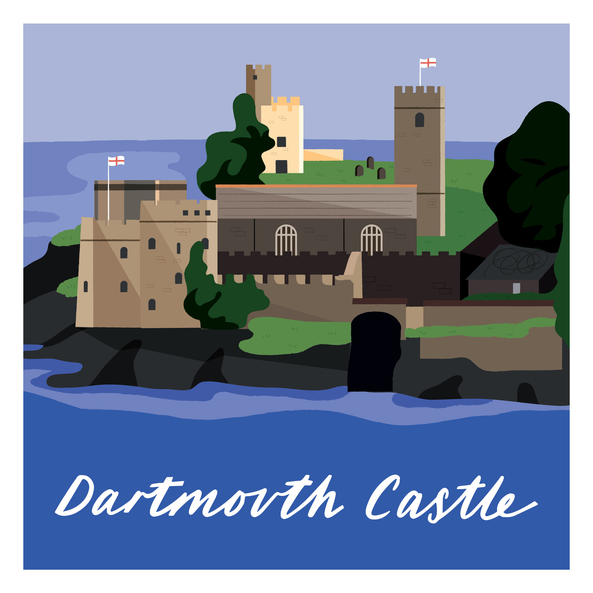 Dartmouth Castle by Elly Jahnz