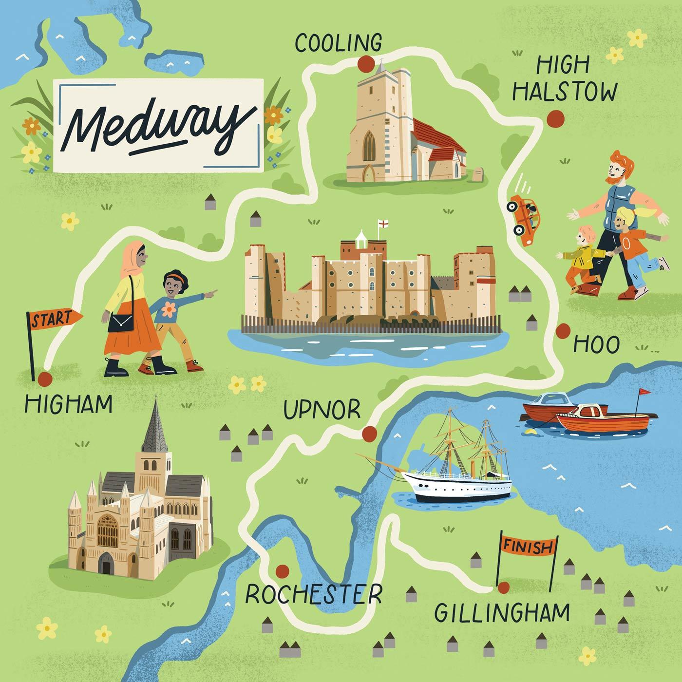 Medway Map portfolio cover image