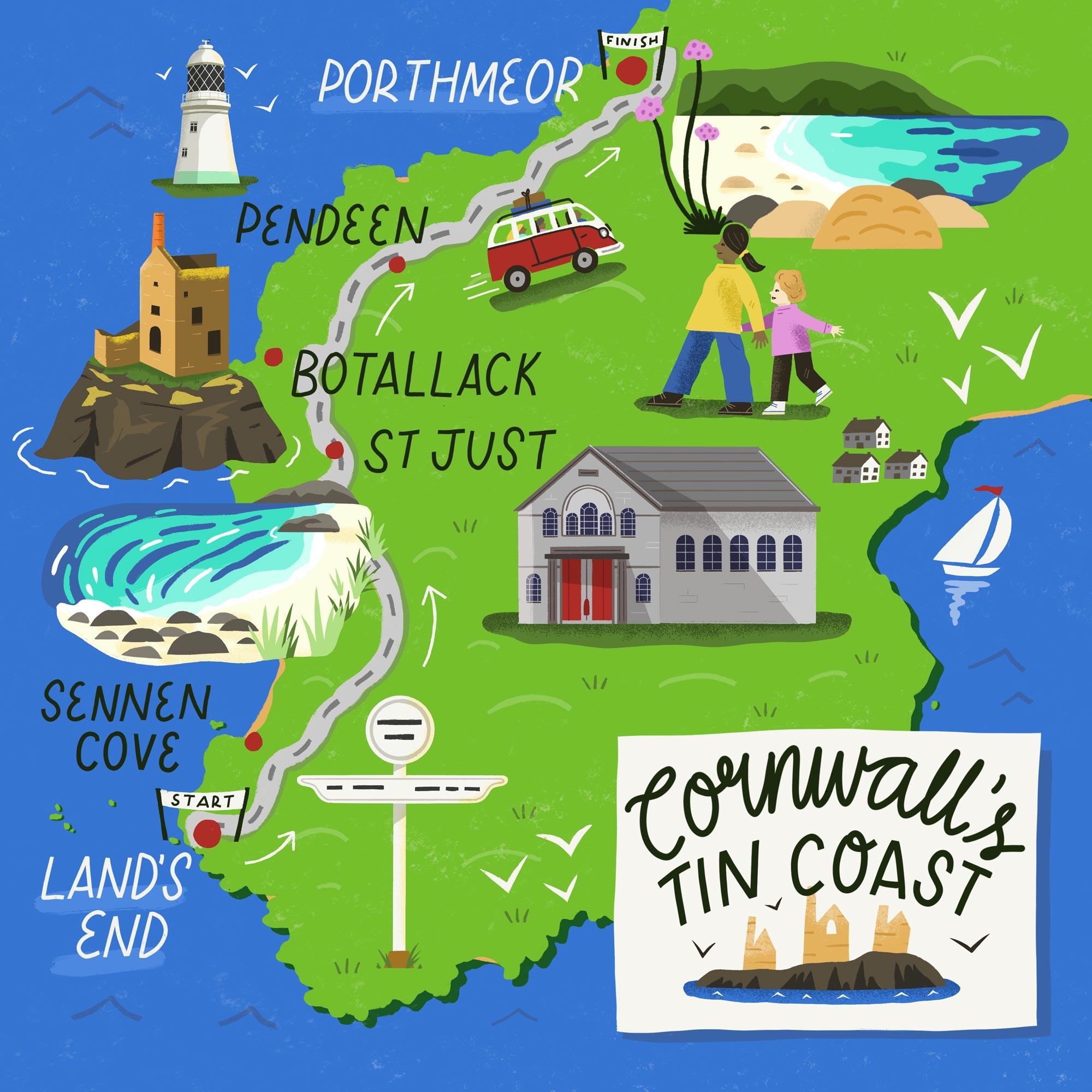 Illustrated Maps portfolio cover image