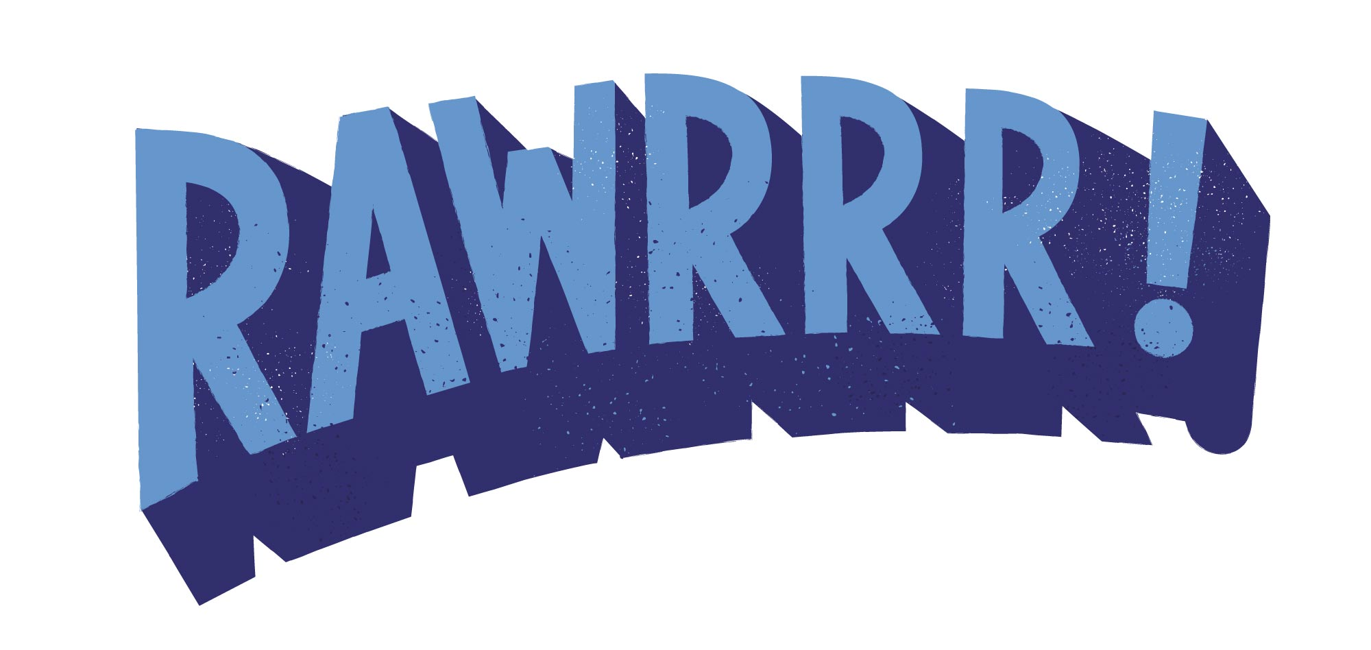 Rawrr hand drawn type by Elly Jahnz for Joules