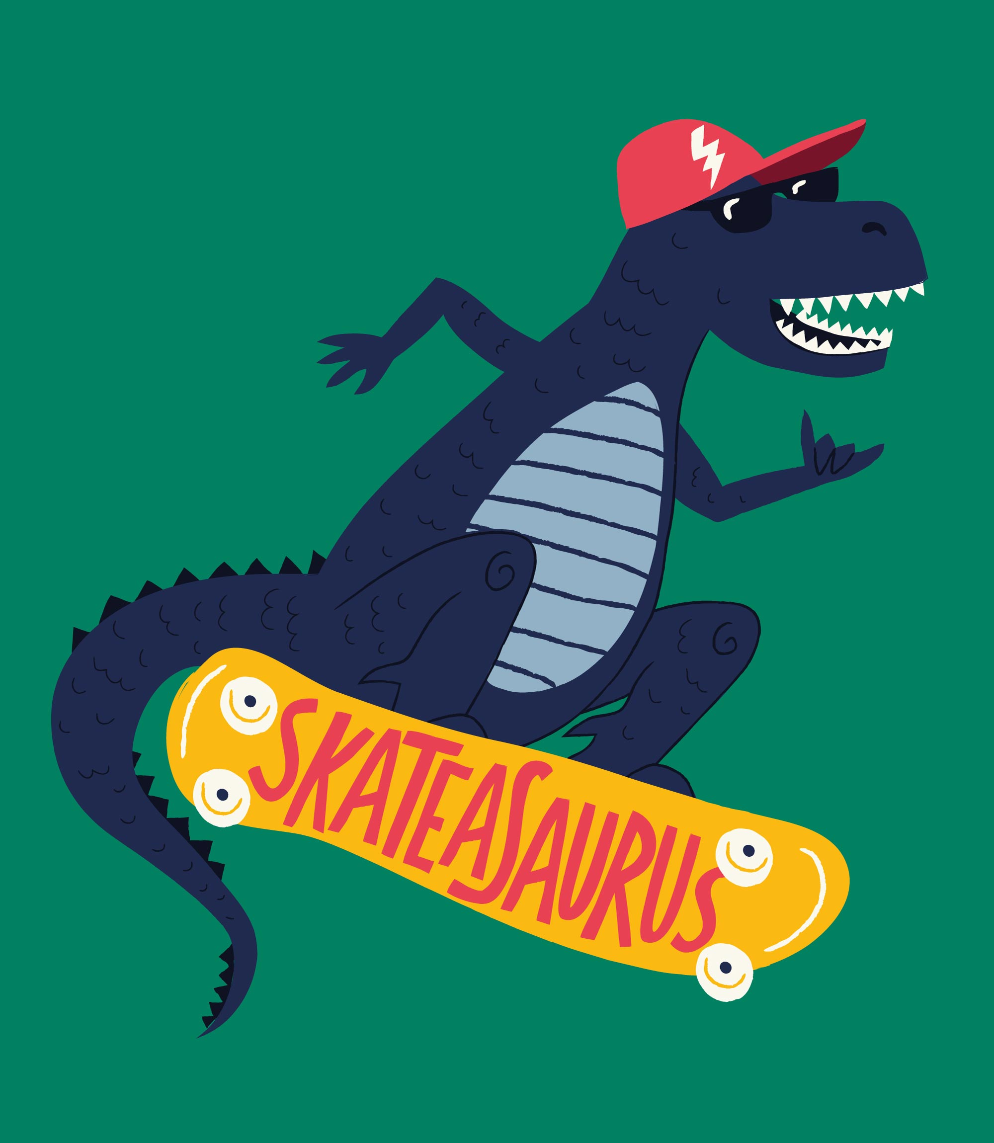 Skateasaurus Tee for Joules by Elly Jahnz