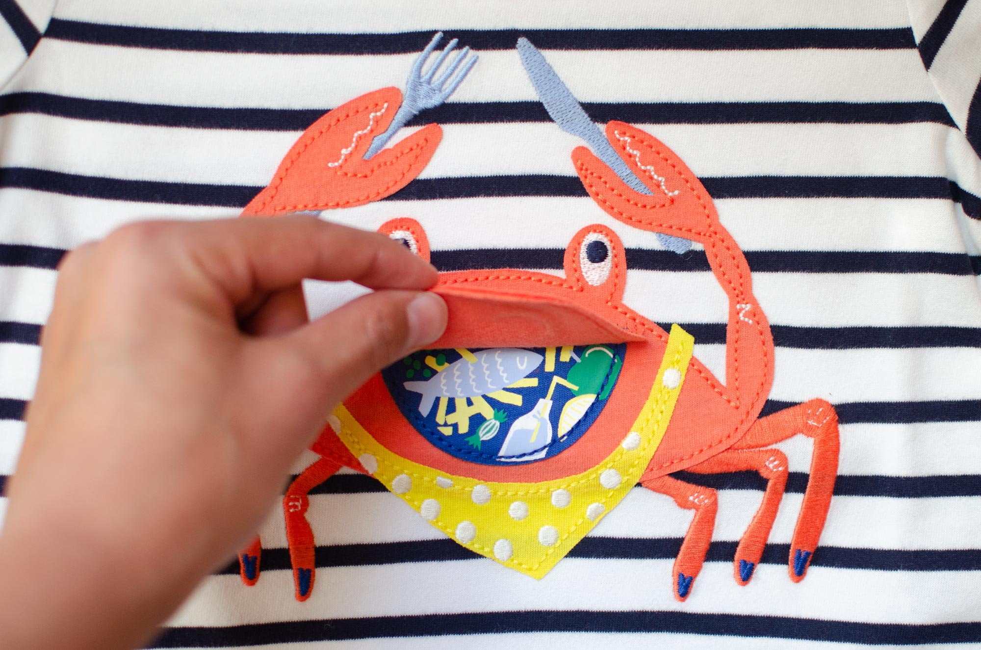 Crab Chomp by Elly Jahnz for Joules