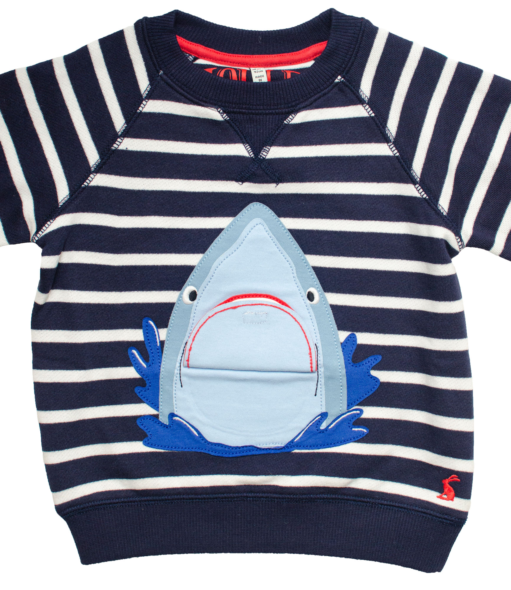 Shark chomp t-shirt illustration by Elly Jahnz for Joules
