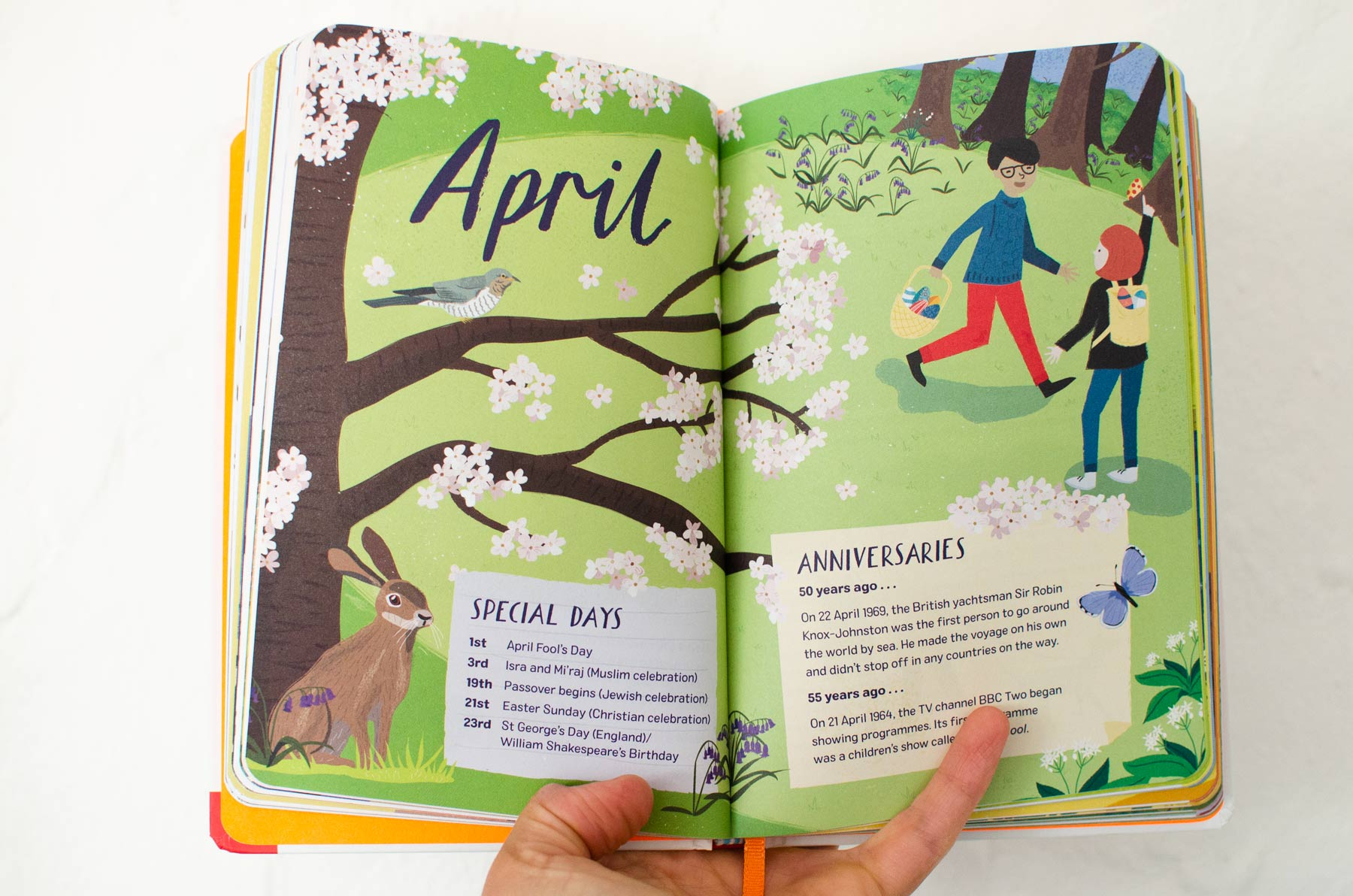 April Final Illustration from 2019: Nature Month by Month by Elly Jahnz