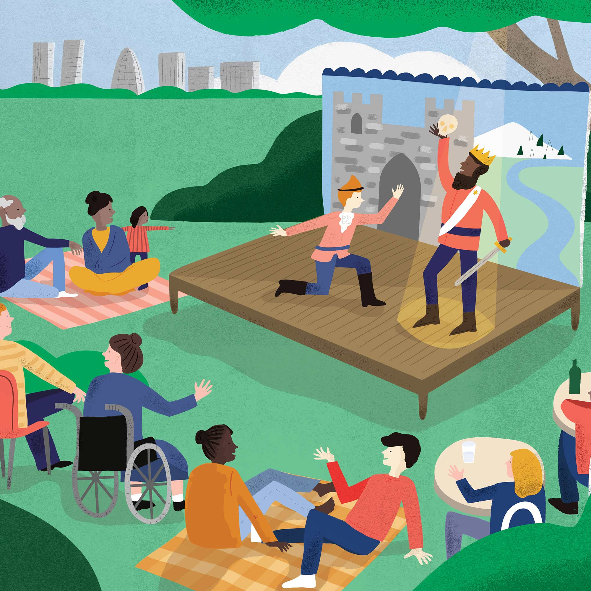 Illustration for sustainable investment fund PICNIC by Elly Jahnz