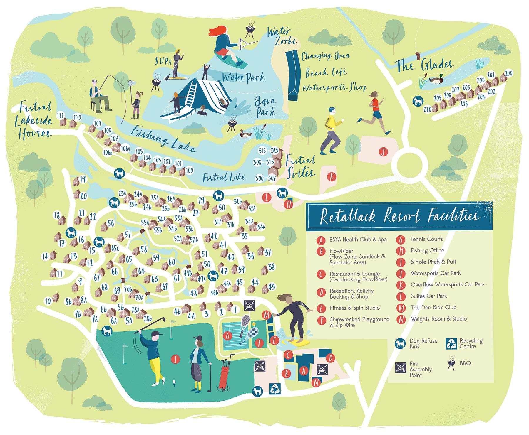 Illustrated Maps for a Cornish resort portfolio cover image
