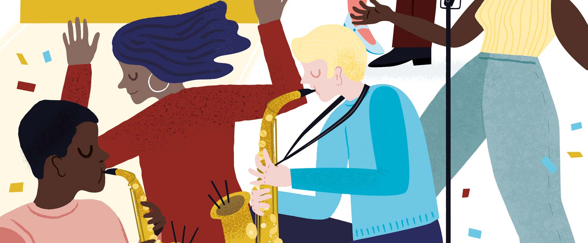 From a poster for Ronnie Scott's Jazz Club by Elly Jahnz
