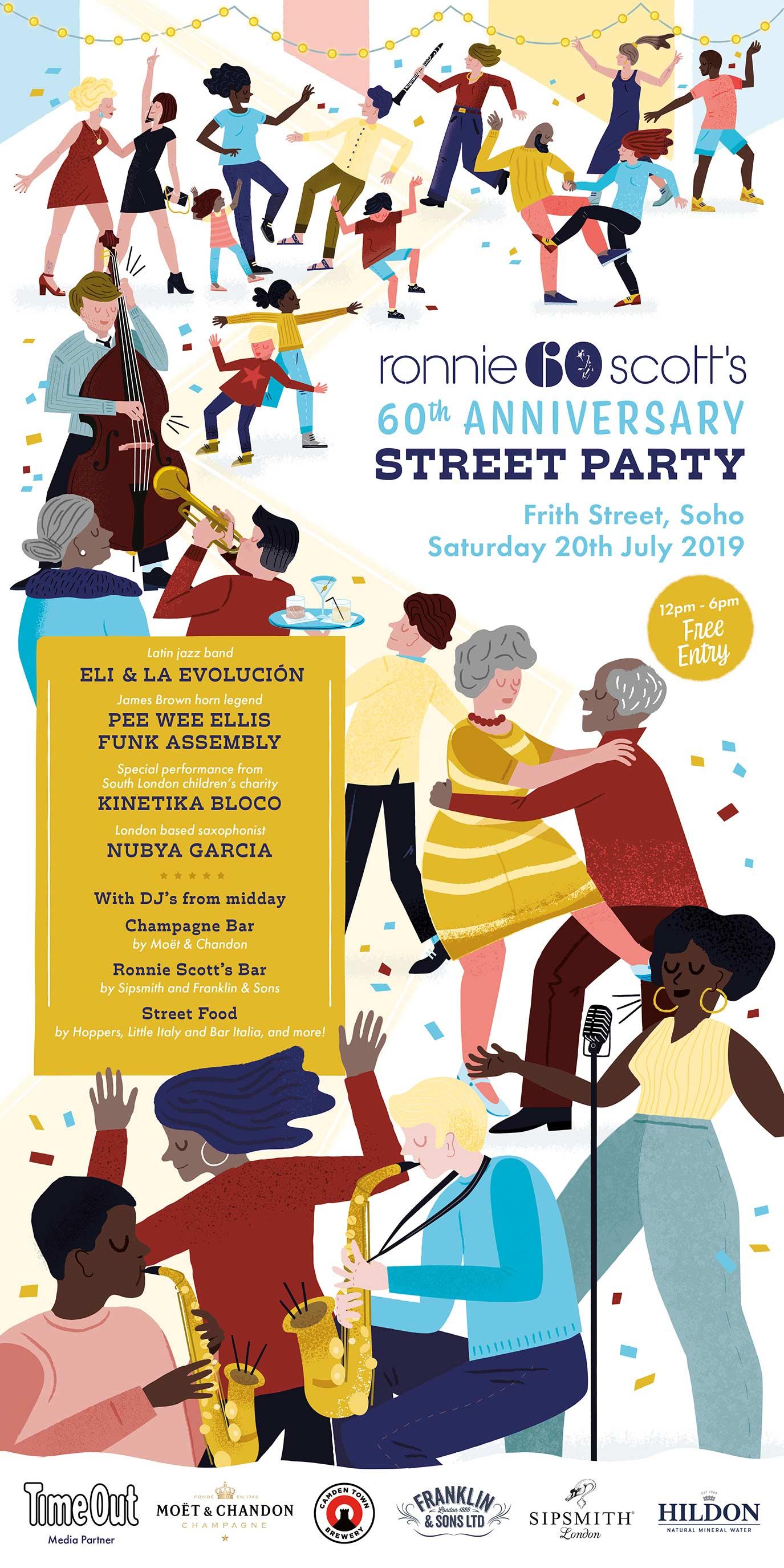 Ronnie Scott's Jazz Club 60th Anniversary Street Party portfolio cover image