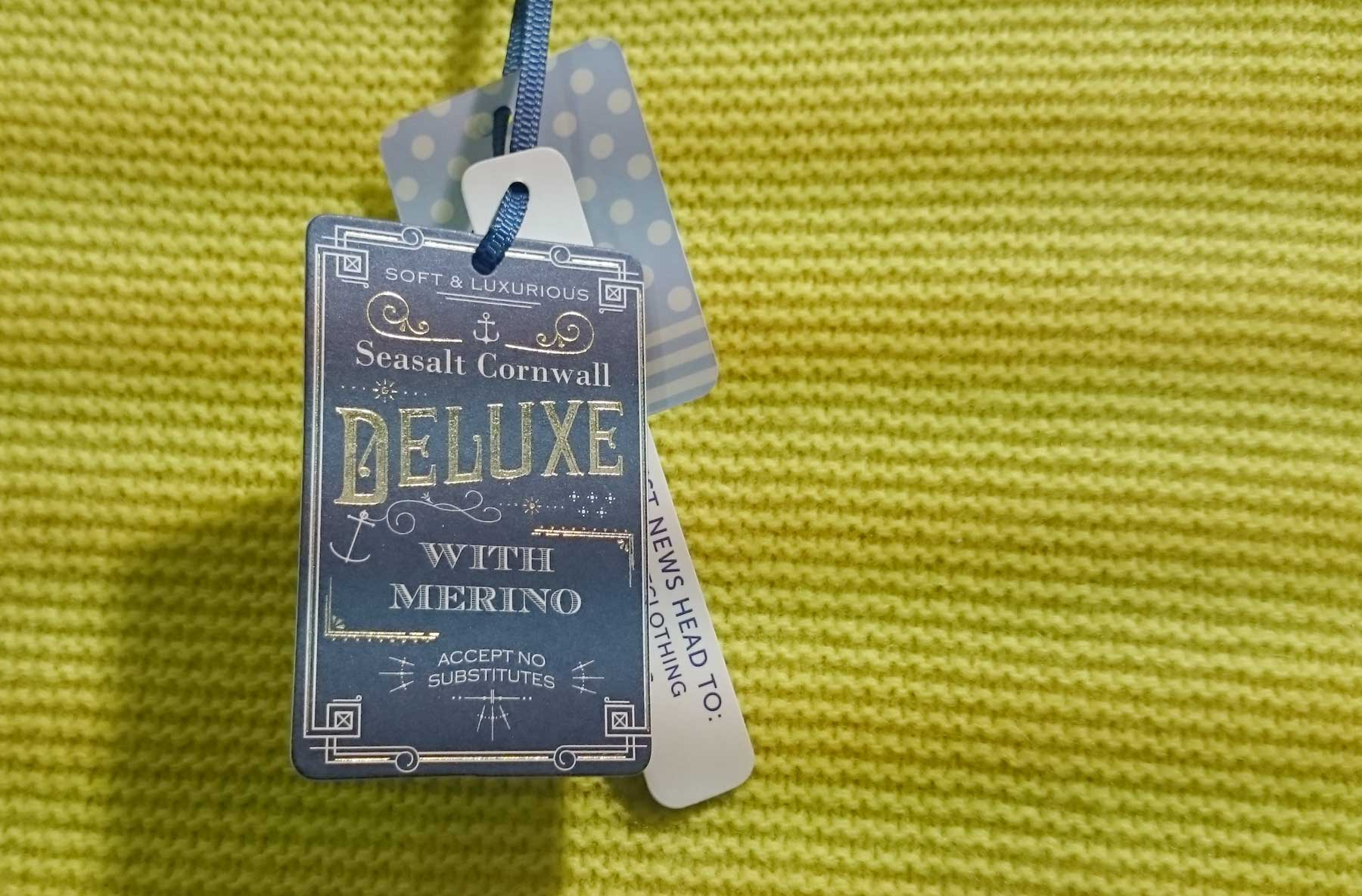 Swing tag, with ribbon for Seasalt's luxury range. Designed by Elly Jahnz.