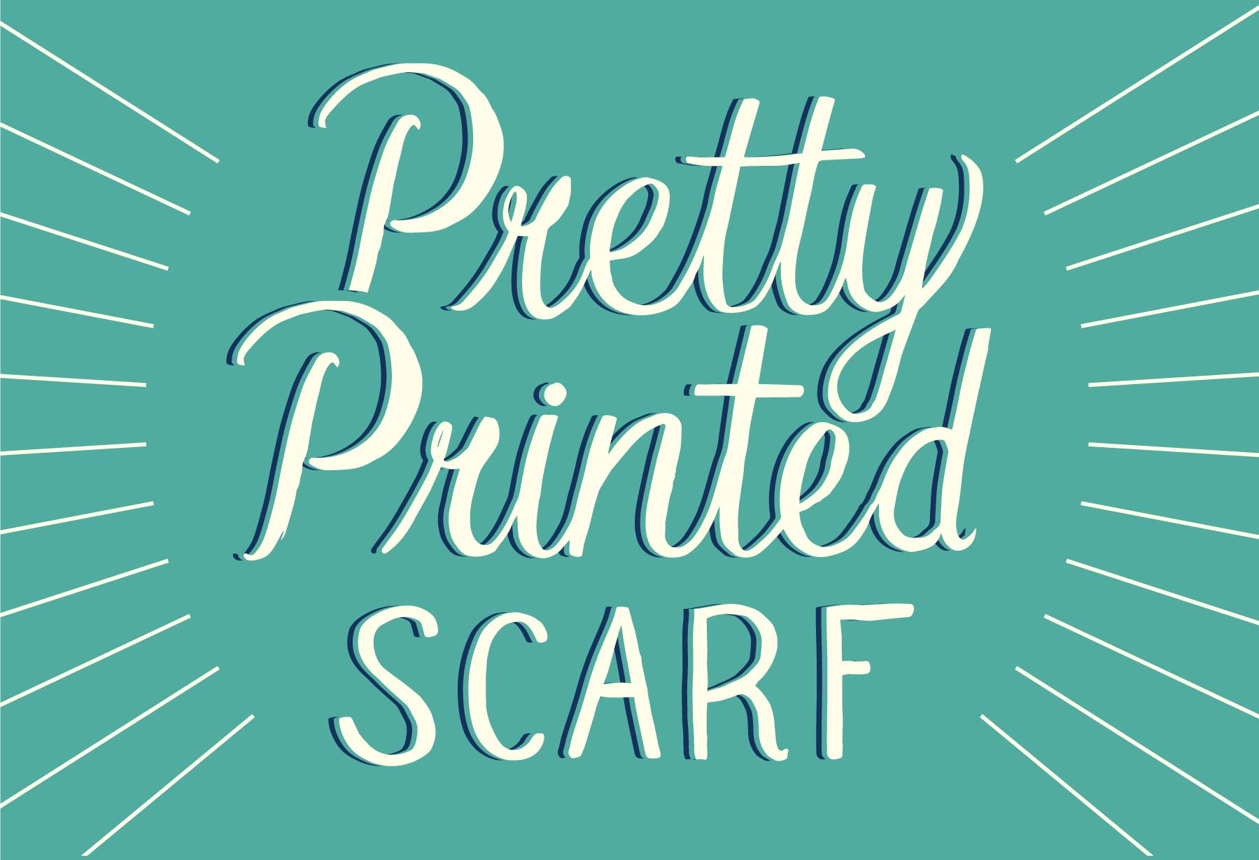 Custom Hand Lettering for Seasalt's Pretty Printed Scarf, by Elly Jahnz
