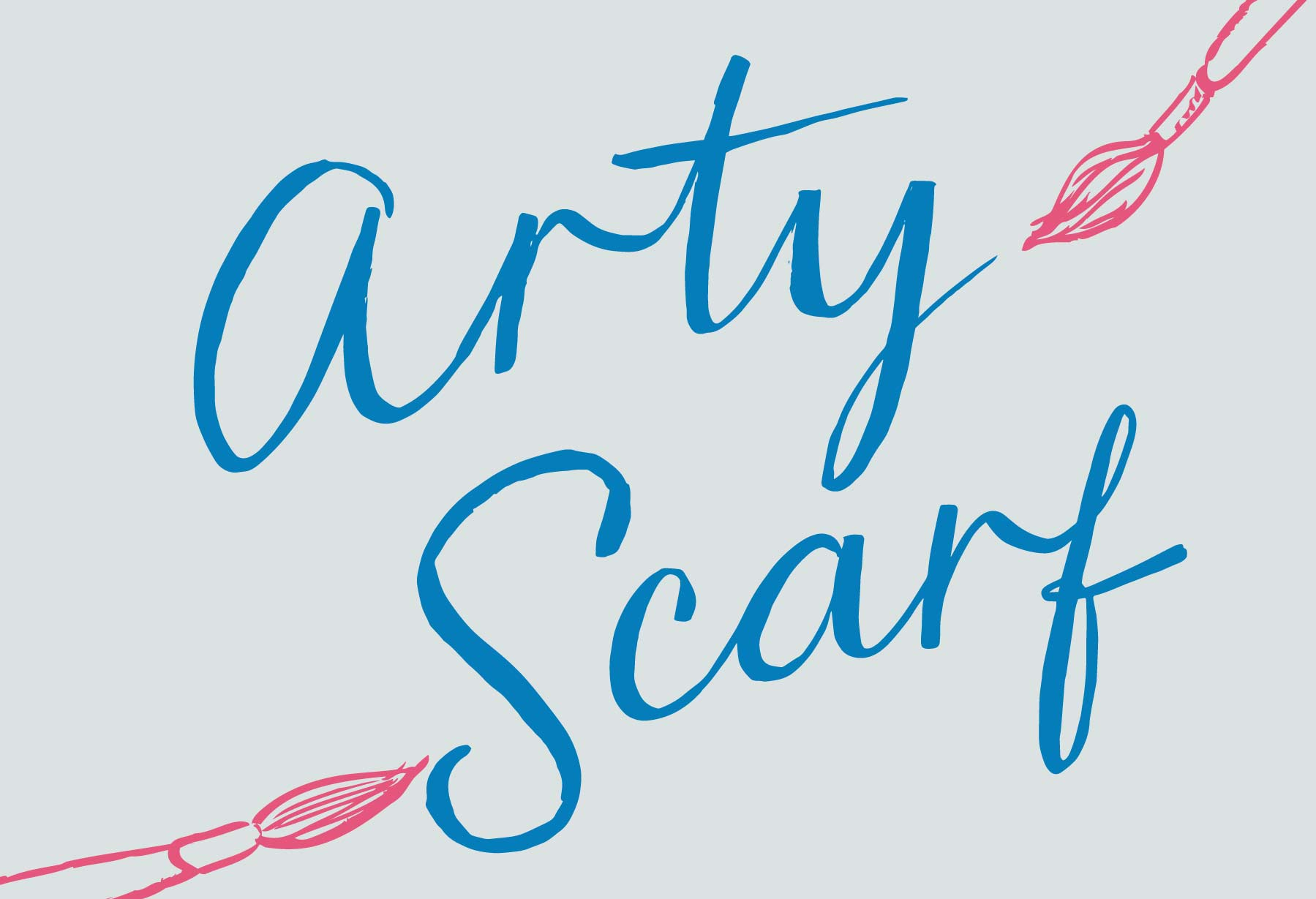Custom vintage style script lettering for Seasalt's range of fabulous Arty Scarves. By Elly Jahnz