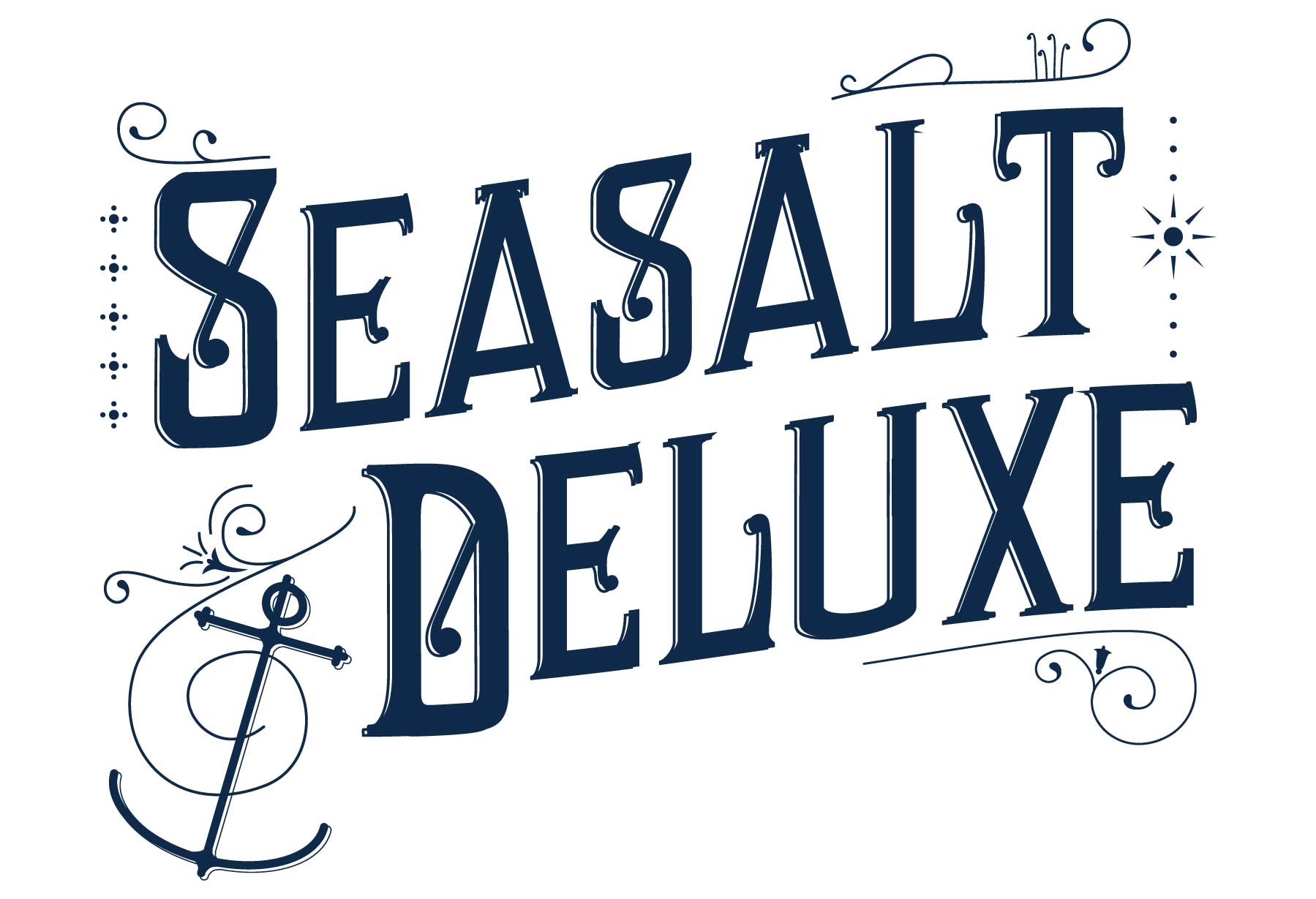 Custom Victoriana Lettering for Seasalt's Luxury range, Seasalt Deluxe, by Elly Jahnz