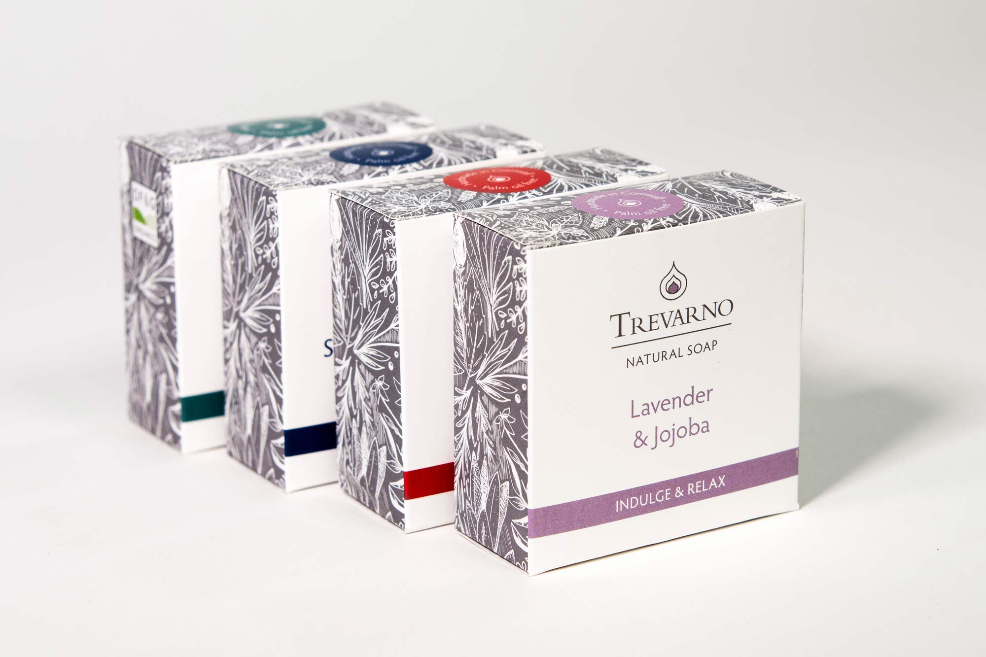 Pattern design for Trevano Skincare by Elly Jahnz